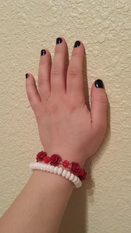 Beaded Bracelet End Result