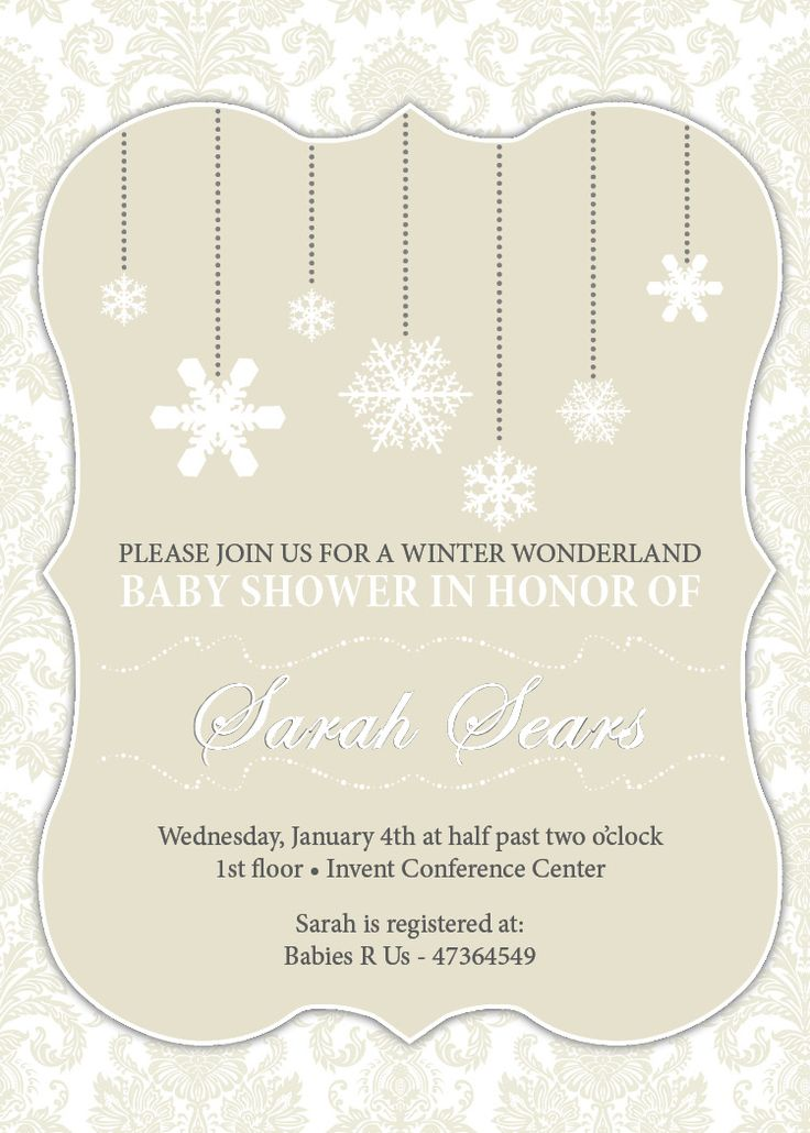 67 best winter wonderland baby shower images on pinterest, Baby shower invitations