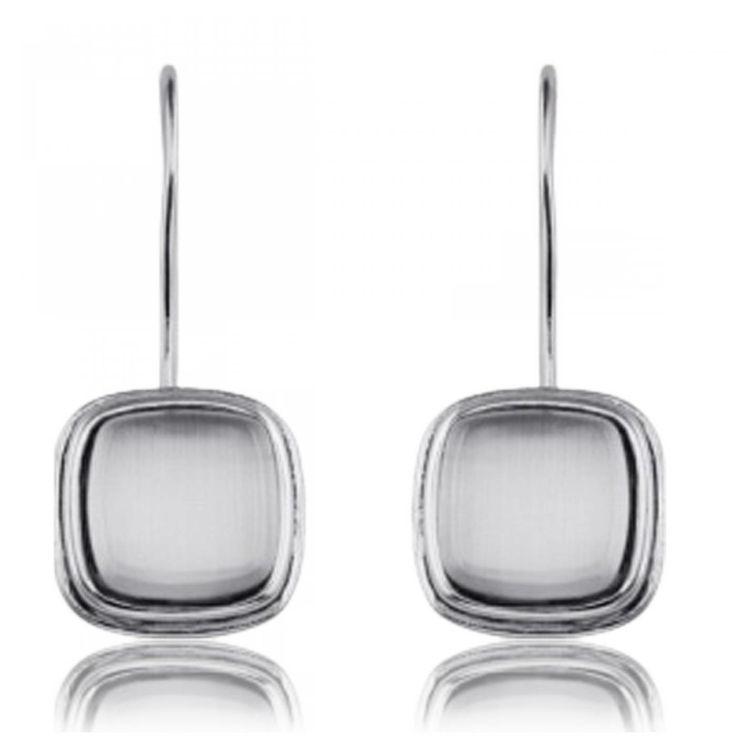 Oeil de chat blanc Earrings - Xc38