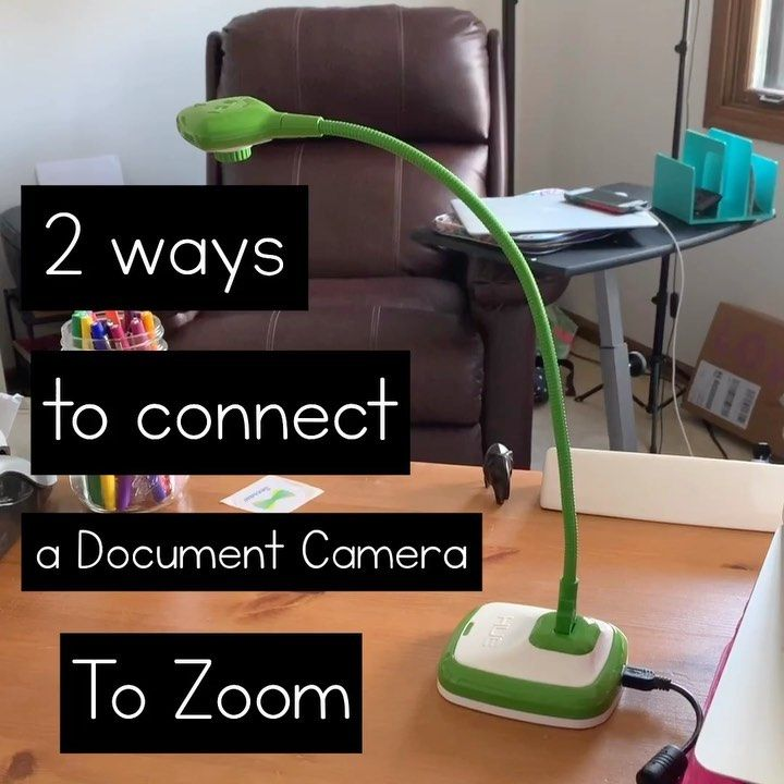 Jenny L Kindergarten Mom On Instagram Here Are Two Ways How To Connect A Document Camera Onto Zoom Document Camera Teacher Hacks Music Teaching Resources