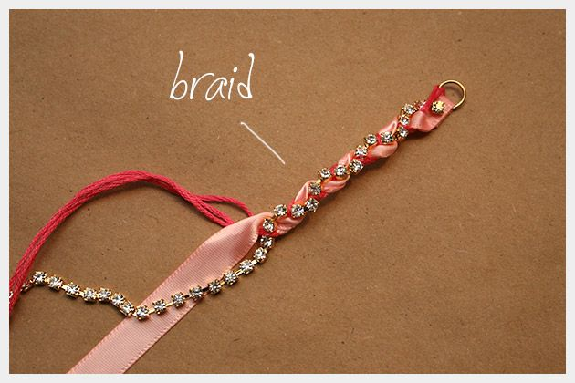 Simple Diy Bracelets Rhinestone Braided Bracelet Fashion By Trinkets We Know How To Do It