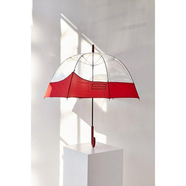 Hunter Original Bubble Umbrella (385 DKK) ❤ liked on Polyvore featuring accessories, umbrellas, hunter umbrella, transparent umbrella, see through umbrella, bubble umbrellas and transparent bubble umbrella