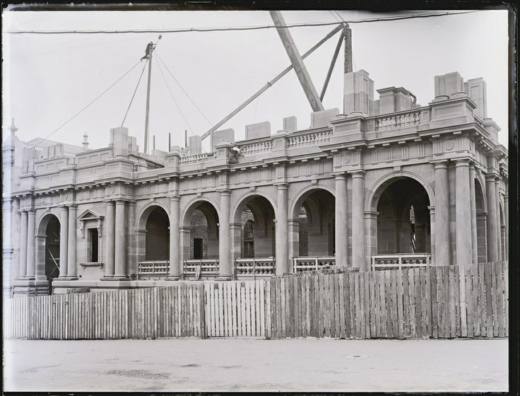 Building Newcastle Post Office, Hunter and Bolton Streets, Newcastle, NSW, 1 May 1902