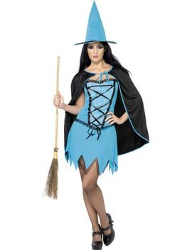 Blue Sparkle Witch Costume