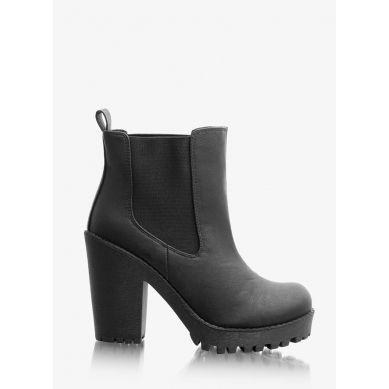 Botki Chunky Black Chelsea Boots