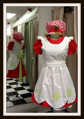 Homemade Strawberry Shortcake costume-- love this one!
