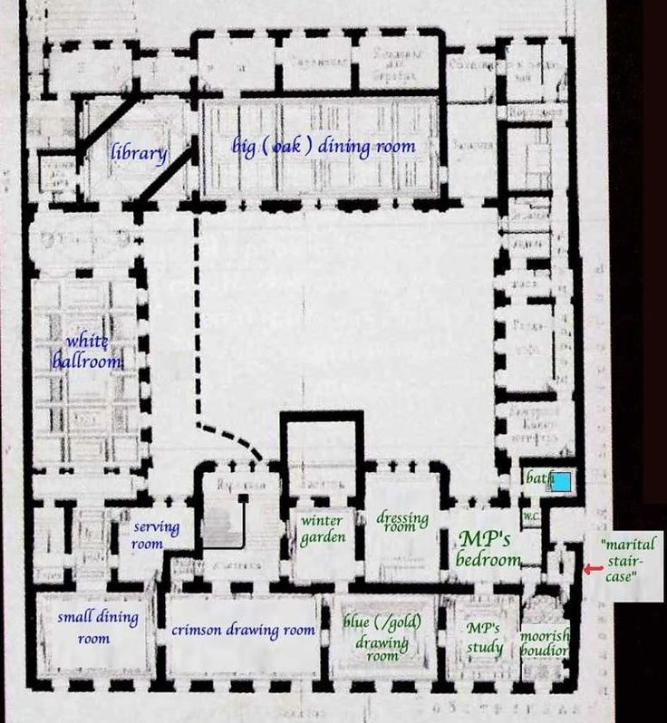 First floor plan of the vladimir palace residence of for Ideal house plan