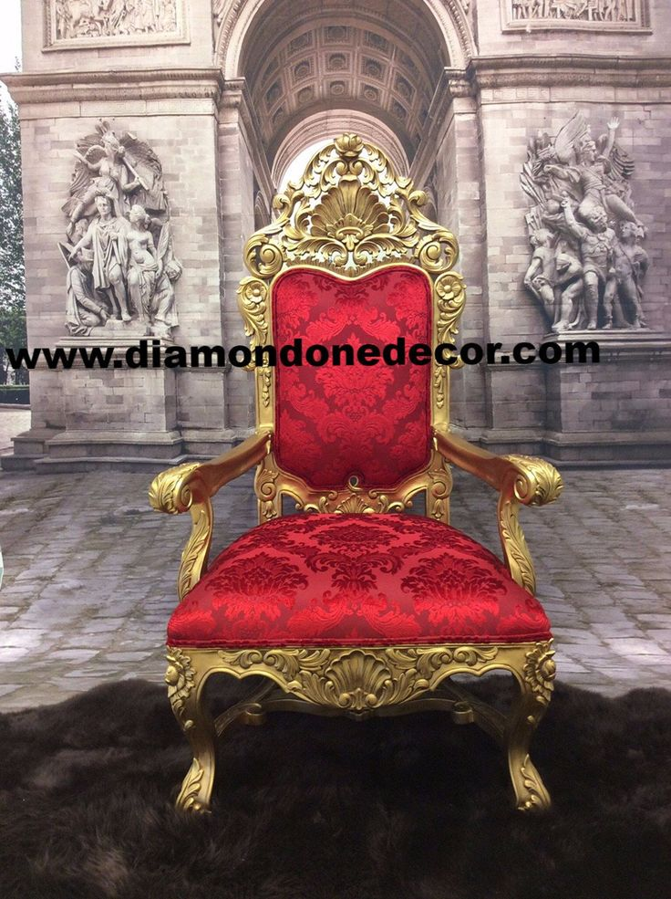 Amazing Baroque French Reprorduction Louis XVI Rococo Throne Wedding C | Diamond One Decor