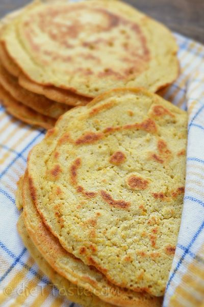Chickpea Flour Tortillas - omit bread flour, sub with rice or coconut flour.