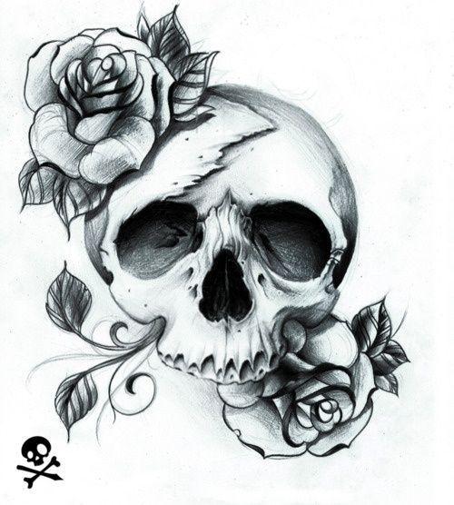 pretty skull tattoos for women | pretty skull