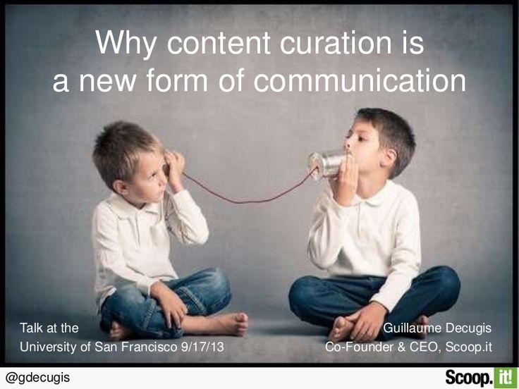 """Презентация """"Почему содержание курирование является новой формой общения"""" (на англ)"""