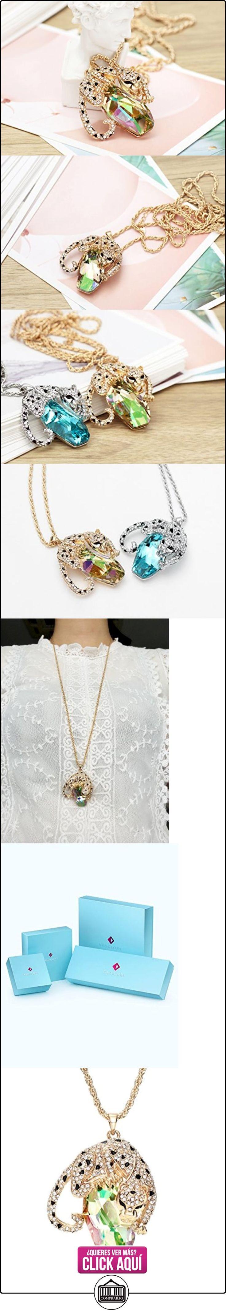 Neoglory Swarovski Elements Fashion Collar Colgante de Leopardo Cristal Austriaco Verde y Diamantes Checos  ✿ Joyas para mujer - Las mejores ofertas ✿ ▬► Ver oferta: https://comprar.io/goto/B019ZEAD4E