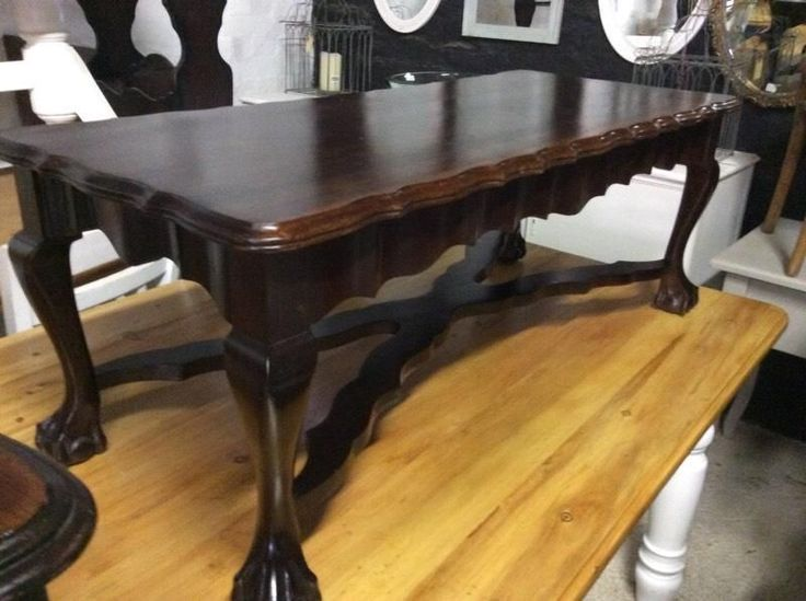 Ball n claw coffee table with a stretcher leg a beautiful must have rare coffee table.....