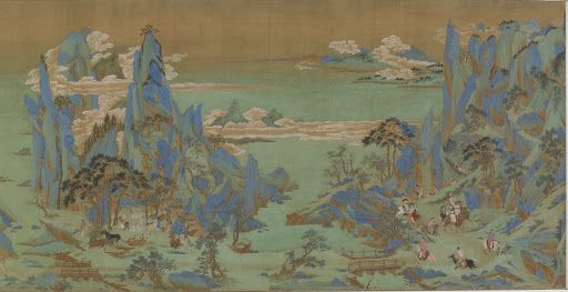 Journey To Shu Artist Traditionally Attributed To Qiu Ying