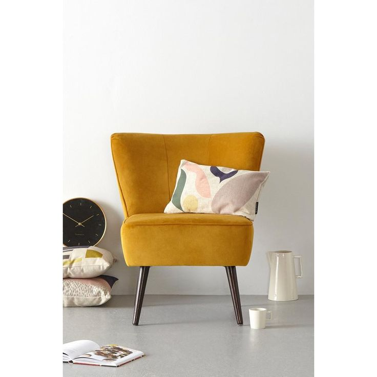 whkmp's own fauteuil Rocco velours, Okergeel