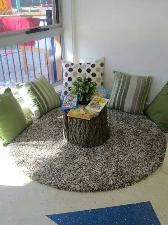Ruhebereich Leseecke Leseecke Klassenraumgestaltung Klassenzimme … #WoodWorking
