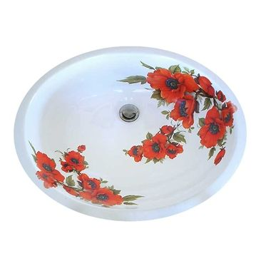 31 Best Images About Floral Hand Painted Sinks Toilets On Pinterest Victorian Gardens Small