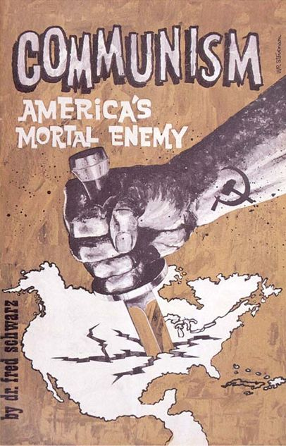 This picture is a propaganda made by the USA during the cold war. The goal of this propaganda was to fight against the expand of communism. It shows that communism was seen as a disease at that time, which will put America and Europe in danger. Marianne (Foeillet)