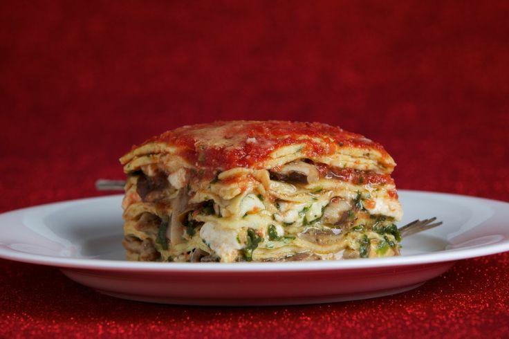 Crepe Lasagna With Mushrooms and Spinach (Lasagne di Crespelle con Funghi e Spinachi)