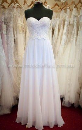 Lace bodice Deb dress