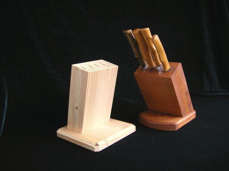 Колодка для кухонных ножей из доски.