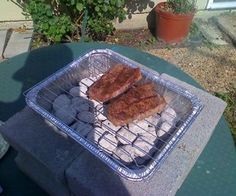 Basically, I needed a small grill really quick and cheap. It's pretty simple to put together, and easy to use. All steps in this guide are for informa...