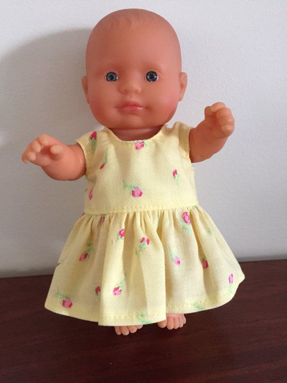 Tiny Rosebuds on Yellow Summer Dress by DebsDollsClothes on Etsy