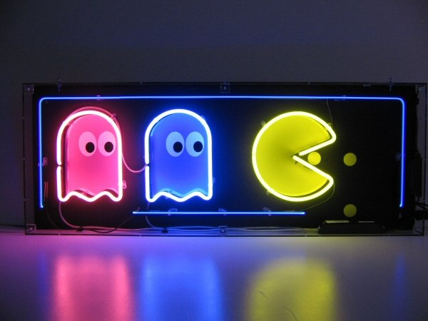 Neon pacman image.