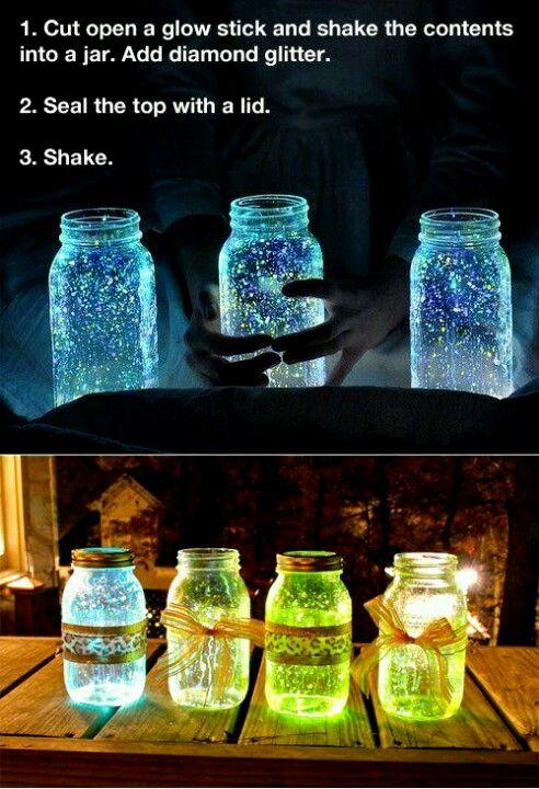 Leucht-Glitzer-Gläser