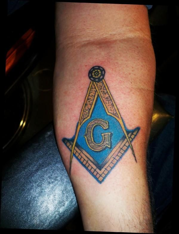 Masonic Tattoos Freemason | The masonic symbol on a brother mason! in New Tattoos From Rat Daddy's ...