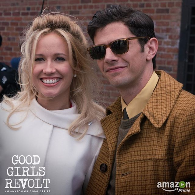 Sam and Jane break a story (and a smile!) on Good Girls Revolt. See where it all leads on Amazon Prime streaming RIGHT NOW! #goodgirlsrevolt #amazonprime