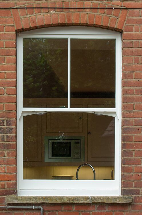 Wooden sash window manufactured and installed by The Sash Window Workshop