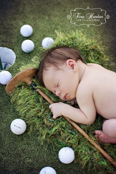 Golfers Green Grass Look Photo Prop Baby by CricketsCreations, $65.00