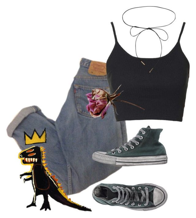 """3M"" by sadkids ❤ liked on Polyvore featuring Topshop, Lilou and Converse"