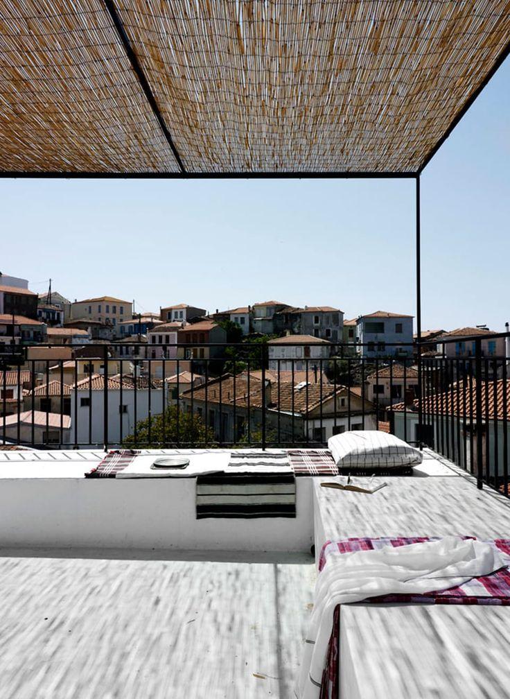 Fællesskab Arkitektur På Lesbos. Shade CoversRoof TerracesLandscaping ...