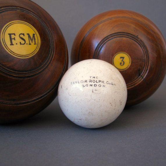 1 Antique Lawn Bowls Jack from England   Vintage by FanshaweBlaine