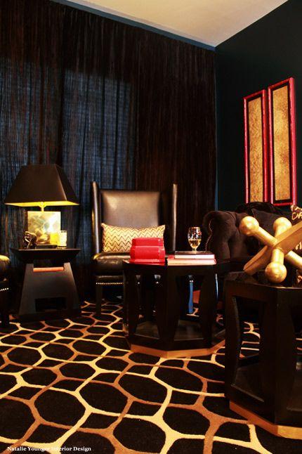 Bold / black and gold livingroom  - study
