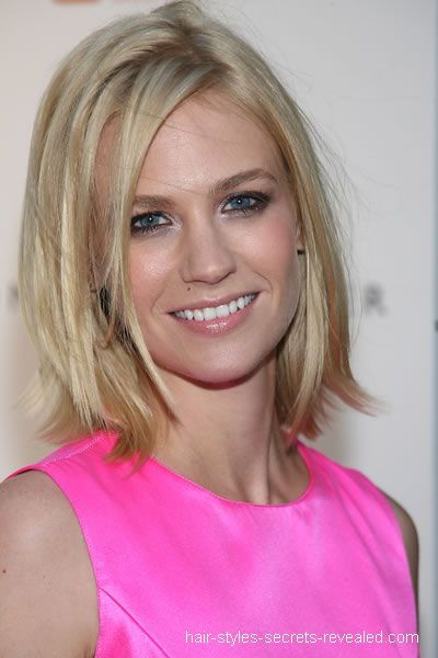 January Jone's hair is definitely a beauty among these 5 gorgeous blonde lobs.