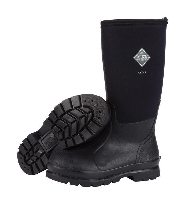 Muck Boots CHORE Unisex Ladies Mens Womens Waterproof Wellington Boots Black