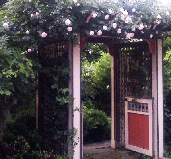 143 best garden gate arbor fence images on pinterest for Garden gate arbors designs