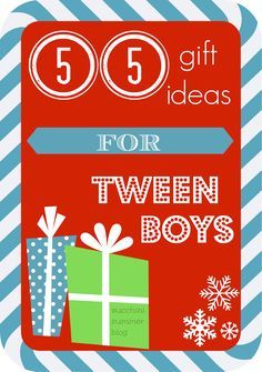 Christmas shopping for a preteen boy? Here are 55 gift ideas for TWEEN boys.