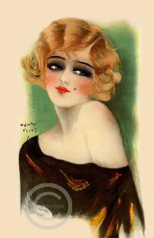 Art Deco Flapper Girl Print  Blonde Beauty by DragonflyMeadowsArt