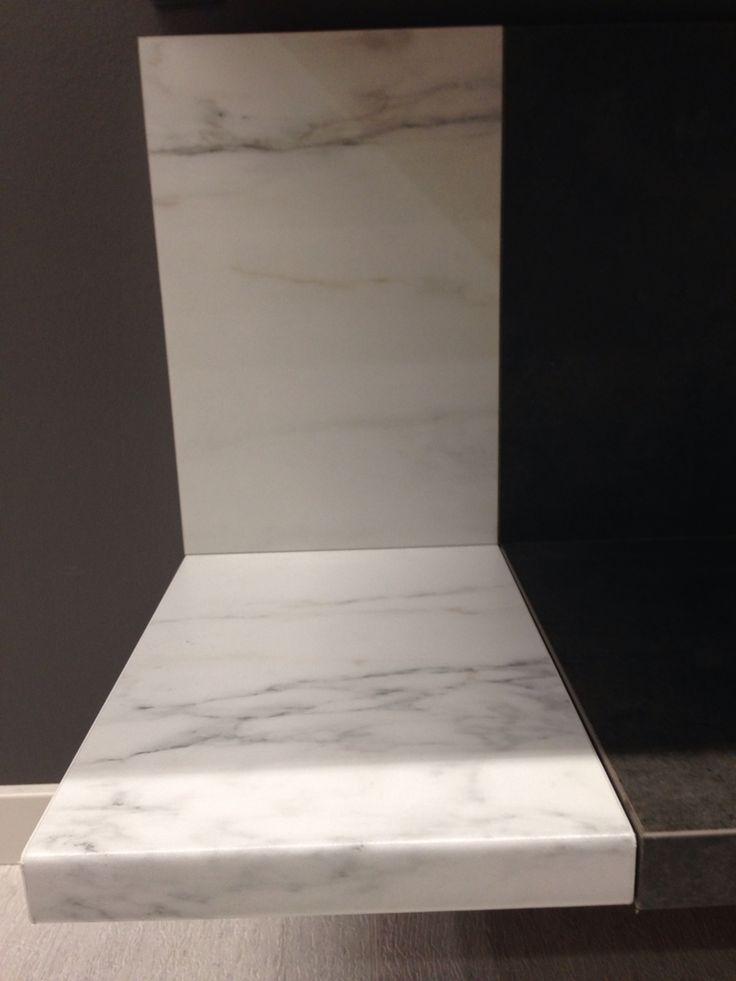 """""""Personlig"""" bänkskiva IKEA Vit marmormönstrad"""