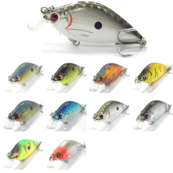 wLure Crankbait Hard Bait Tight Wobble Slow Floating Tank Tested 6.4cm 7g Fishing Lure C503