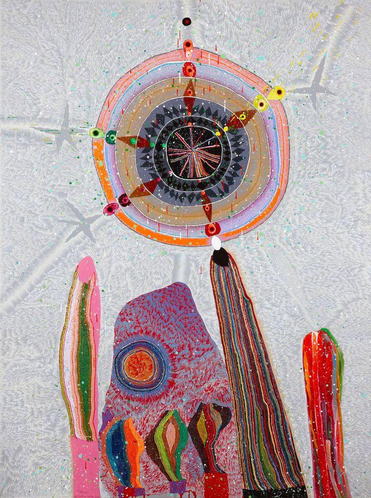Del Kathryn Barton (b. 1972 Australia):  Flatrock, 2009  Acrylic on canvas