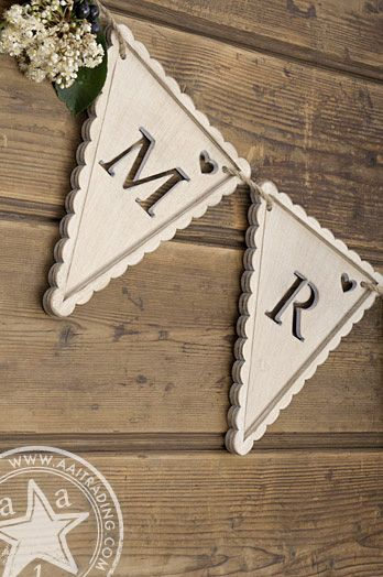 """Wooden Lace Framed Bunting 