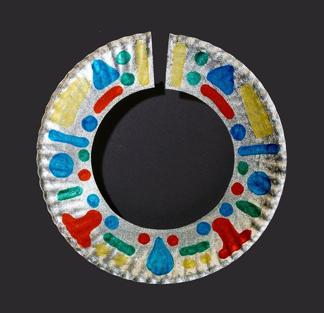 African Necklace (paper Plate Craft)