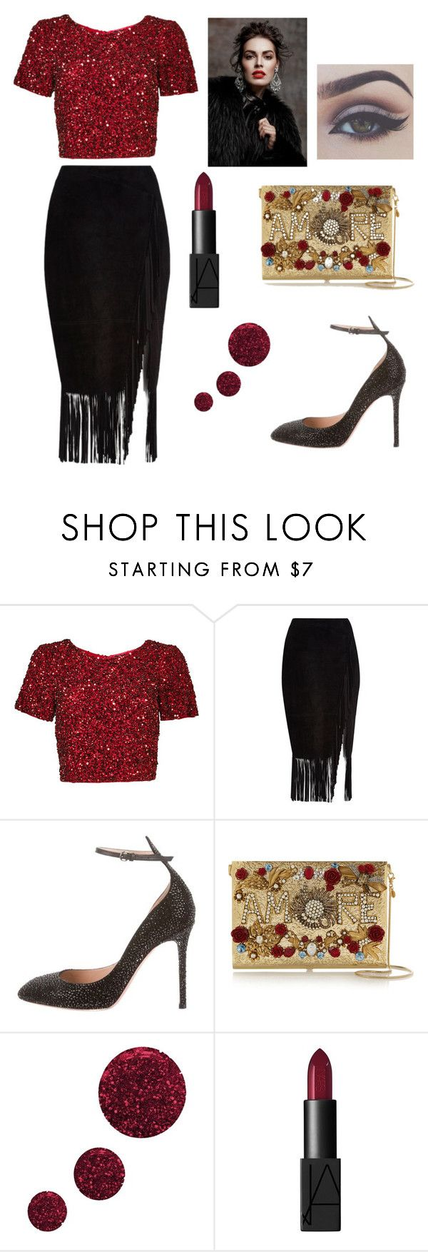 """look for new year"" by kimvictoria on Polyvore featuring Parker, River Island, Valentino, Dolce&Gabbana, Topshop and NARS Cosmetics"