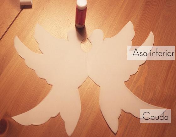 Pombinhas de papel - passo a passo