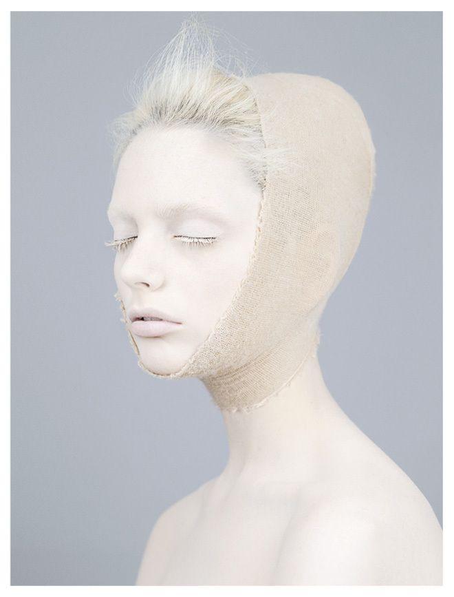 White Lashes, make up art, fashion editorial